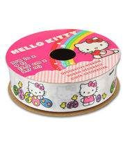 Hello Kitty Easter Ribbon-Solid White W Eggs,