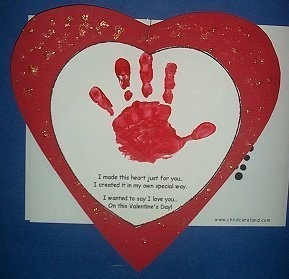 Heart Handprint Poem