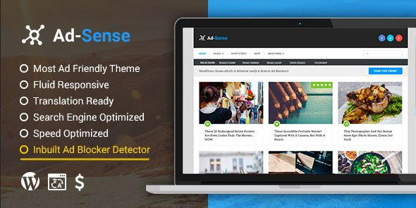Ad-Sense: Premium WordPress Blog Theme - MyThemeShop - PluginsMart