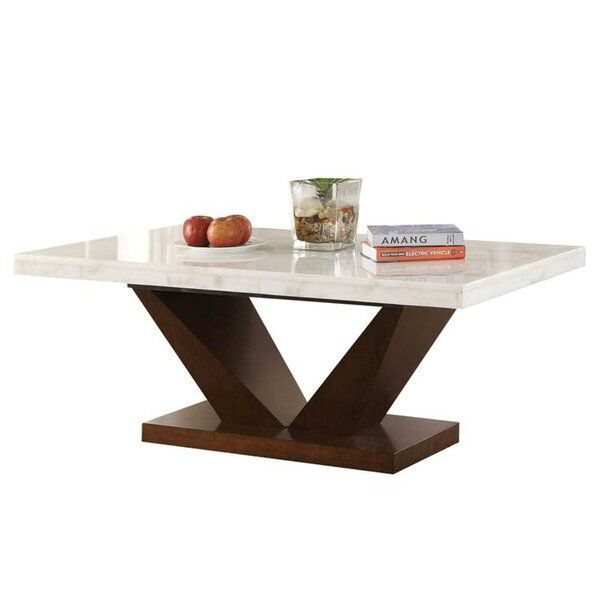 This Serviolle Dining Table Features Flat Rectangular Marble Top In Elegant White Color And Its Coffee Table White Solid Coffee Table Dining Table In Kitchen