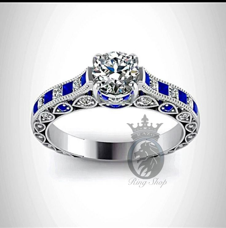 Doctor Who Inspired 4.5Cts Sapphire Diamond Engagement Ring by RazosRingShop on Etsy https://www.etsy.com/listing/233861995/doctor-who-inspired-45cts-sapphire