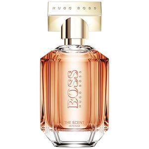 BOSS THE SCENT INTENSE FOR HER EAU DE PARFUM Arouse the senses with sensuality and seduction. BOSS THE SCENT INTENSE for Her is the little black dress of fragrance Available at The Perfume Shop. An irresistible women's perfume, BOSS THE SCENT INTENSE For Her Eau de Parfum is the ultimate scent of seduction, for a woman who is confident, strong and knows her own mind... and isn't afraid to show it. ORIENTAL FLORAL FRAGRANCE TOP NOTE Honeyed Peach, Freesia Blossom HEART NOTE Osmanthus A...