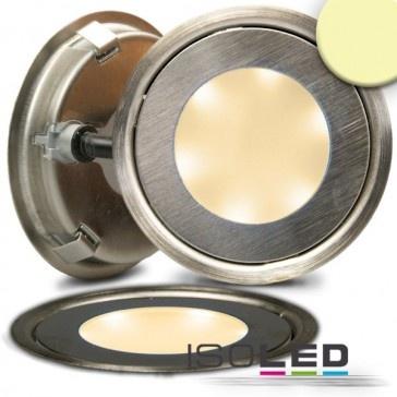 """LED Bodenstrahler """"SLIM-OUT"""", rund, IP67, edelstahl, kaltweiß / LED24-LED Shop"""