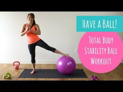 Total Body Stability Ball Workout - The Live Fit Girls
