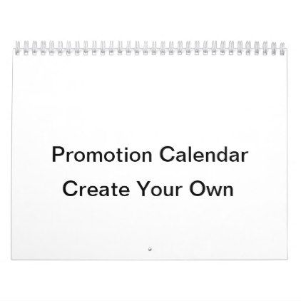 Promotional Calendar - diy cyo customize create your own personalize