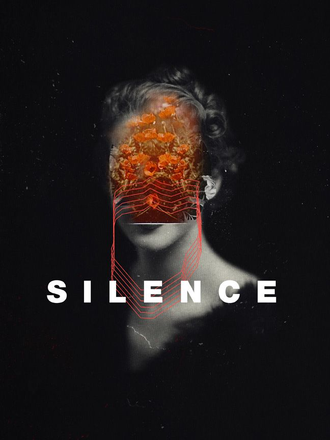 """Silence"" by Frank Moth  Digital Portrait, Typography You can find Limited edition prints, signed and numbered, in our Tictail store. Two days left for our Super Christmas Sale  (until 15/12). Get 20% off our entire store!  For smaller size, unsigned prints, phone case, tote bags, throw pillows and other interesting products you can also find us on these platforms: Redbubble Society6 Juniqe"