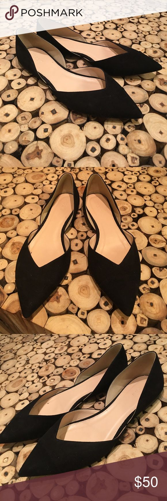 J Crew Suede Tuxedo D'orsay Flats sz10 Brand-new only tried on indoors - understated stunning flattering lines J. Crew Shoes Flats & Loafers