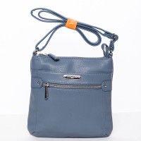 Modrá crossbody kabelka Christine David Jones. Kabelka je malá, ale vysoce praktická. #kabelky #crossbody #modrá #móda