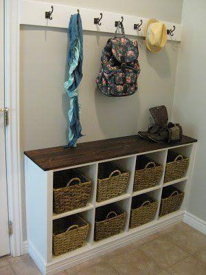 Entryway Storage | Make Your Entryway More Welcoming | DIY Ideas