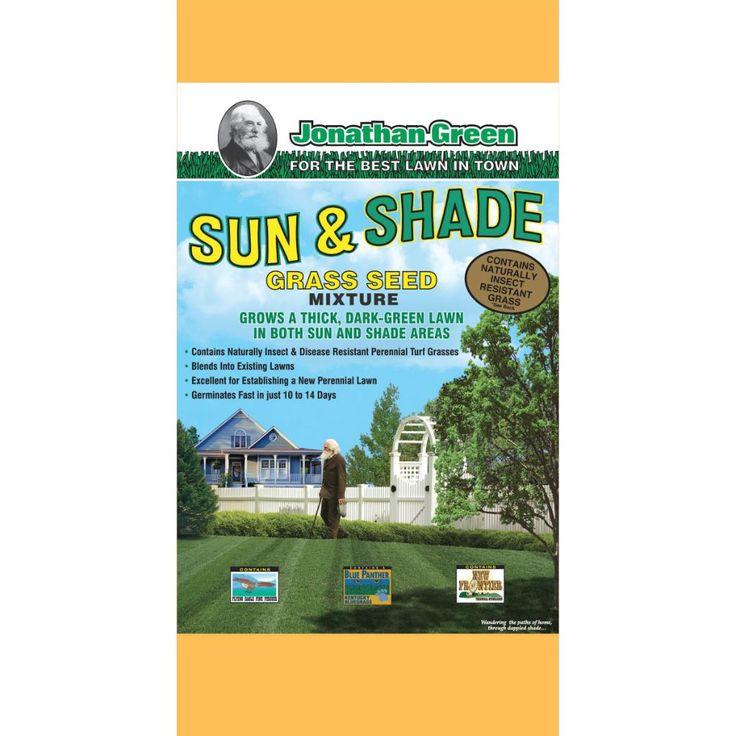 'Jonathan Green' Sun & Shade Grass Seed Mix #15 (Jonathan Green 15# Sun & Shade Grass Seed Mix), Gardening