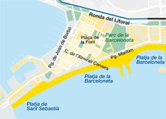 La Barceloneta Neighbourhood Map