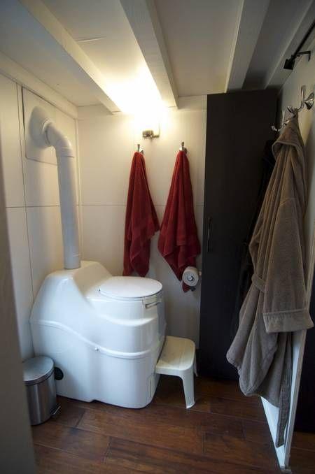 bathroom composting toilet