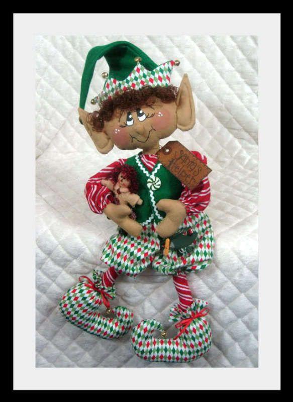 """~~ arte popular primitivo Raggedy Navidad 20"""" """"Kristoff"""" patrón de Elf ~ #311 ~~"""