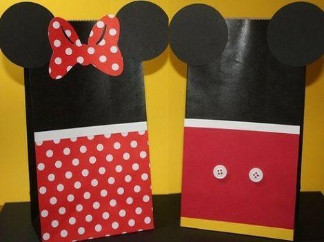 bolsas de cumpleaños de mickey mouse
