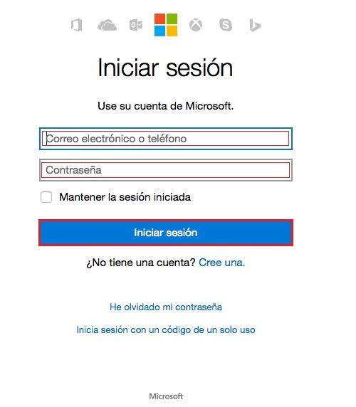 inicio-sesion en hotmail correo