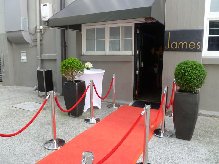 The Red Carpet — at James, Parnell.
