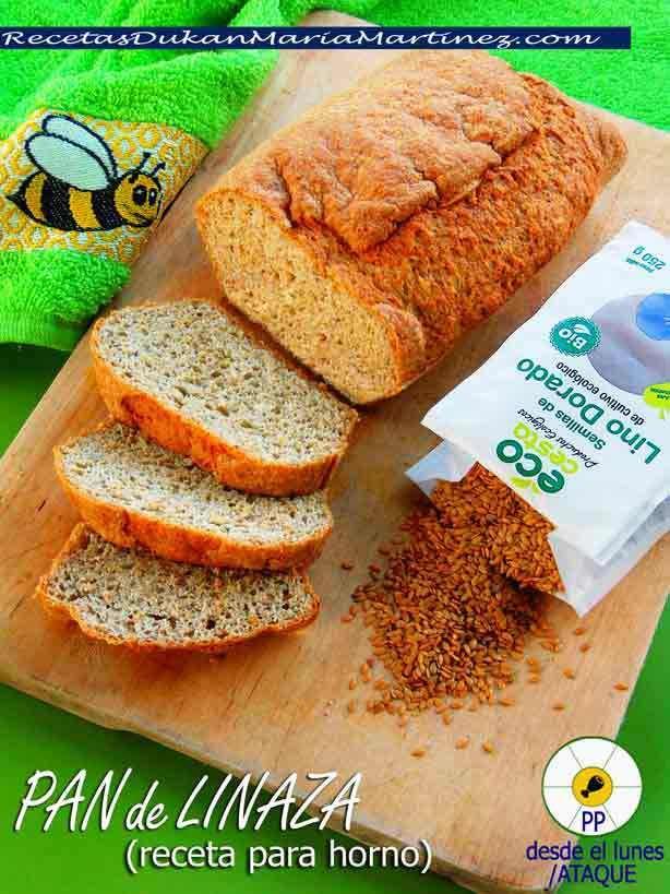 Pan de Linaza, apto dieta Dukan desde la primera fase (Ataque) y también para la NUEVA dieta Dukan fácil desde el lunes de proteína pura. Receta para horno #NuevaDietaDukanFacil