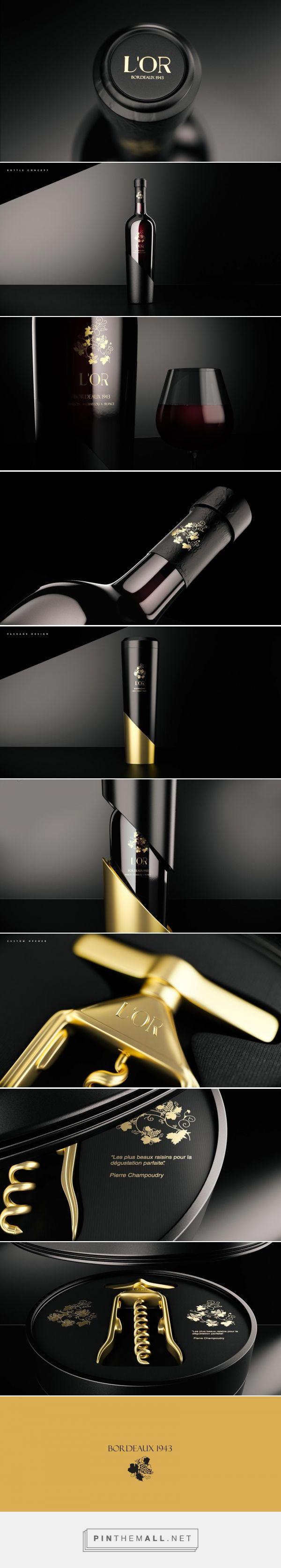 L'OR wine packaging design by 4eFergovi - http://www.packagingoftheworld.com/2016/12/lor.html