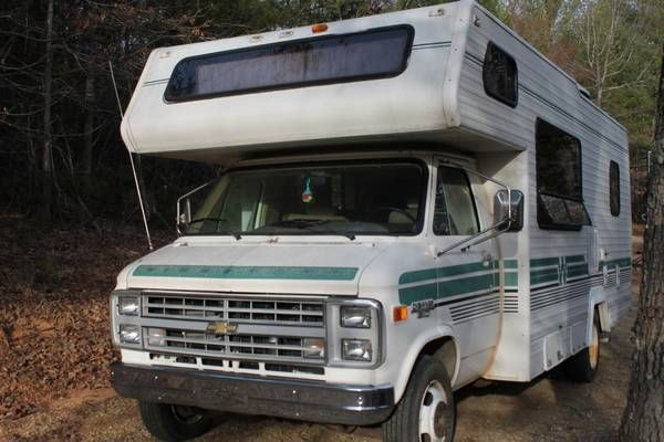 1986 Chevy 350 Van Minnie Winnie Winnebago 24ft Motor Home Rv 6800 North Georgia Mountains