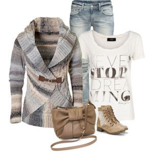 Love the sweater! The boots are hideous...ewww