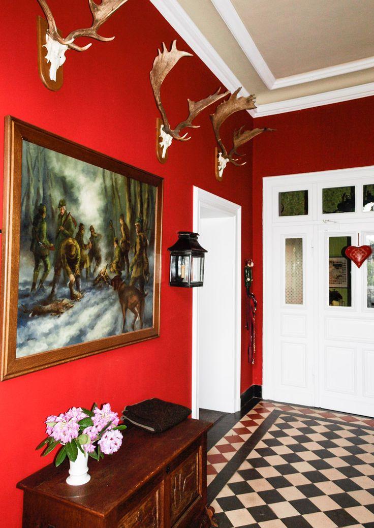 18 besten Wandfarbe rot Bilder auf Pinterest Wandfarbe rot - wohnzimmer gestalten rot