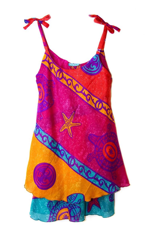 Bright colourful, lightweight Mauritian Sundresses.