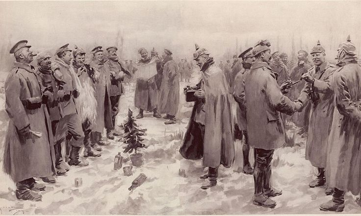 La tregua di Natale del 1914 vide migliaia di uomini fraternizzare spontaneamente sul fronte, senza che fosse stato dato loro alcun ordine in merito.