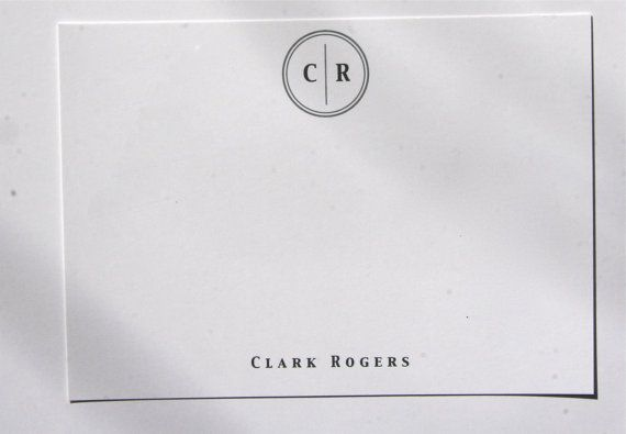 THE CLASSIC MONOGRAM. Children and Family notes. by CoganPaper, $39.00 (white card, classic navy font)