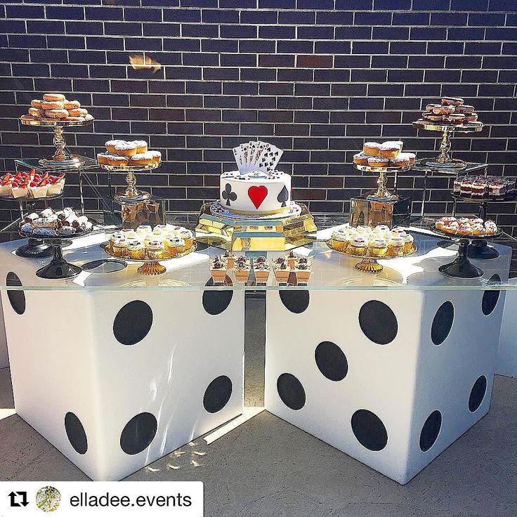 "544 Likes, 5 Comments - Dessert Inc. (@dessertinc_) on Instagram: ""Close up of the dessert table from the casino themed birthday party styled by @elladee.events…"""