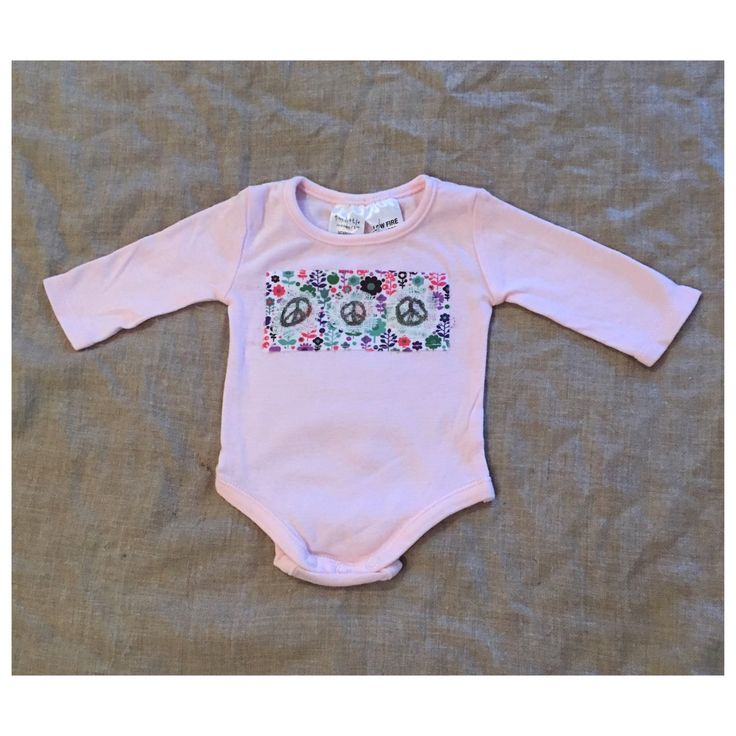 Gorgeous newborn long sleeve bodysuit $12. Check out my store for more unique designs at low prices!
