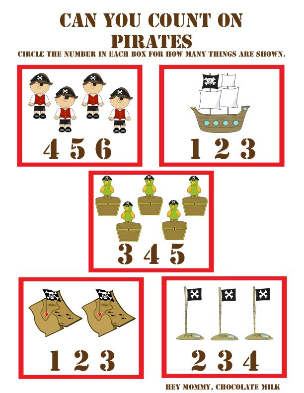 """Can You Count On?"" Pirate Themed Worksheet"