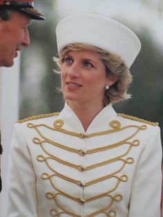 April 10, 1987: Princess Diana at the Sovereigns Parade at the Royal Military Academy in Sandhurst, Berkshire, England.