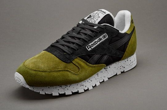 Fashionable and Cheap -Men shoes-Reebok Classic Leather Speckle Midsole - Green