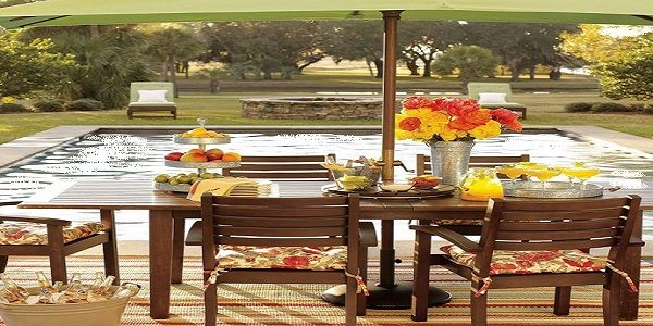 Creating Beautiful Garden and Terrace using Solid Wood Table