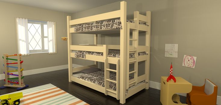 level bunk beds | Design Ideas Using Your Own Design Bunk Bed : Cool ...