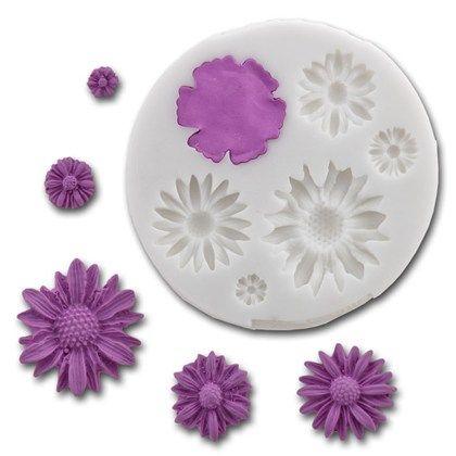 Silikonform för att tillverka blommor