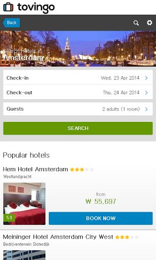 Are you going to Amsterdam for honey-moon, travel, vacation, business or any other reasons and looking for comfortable hotels? Take this Free 'Amsterdam Hotel the best prices' app in your pockets. Compared with over 5 million hotel deals in over 120,000 d