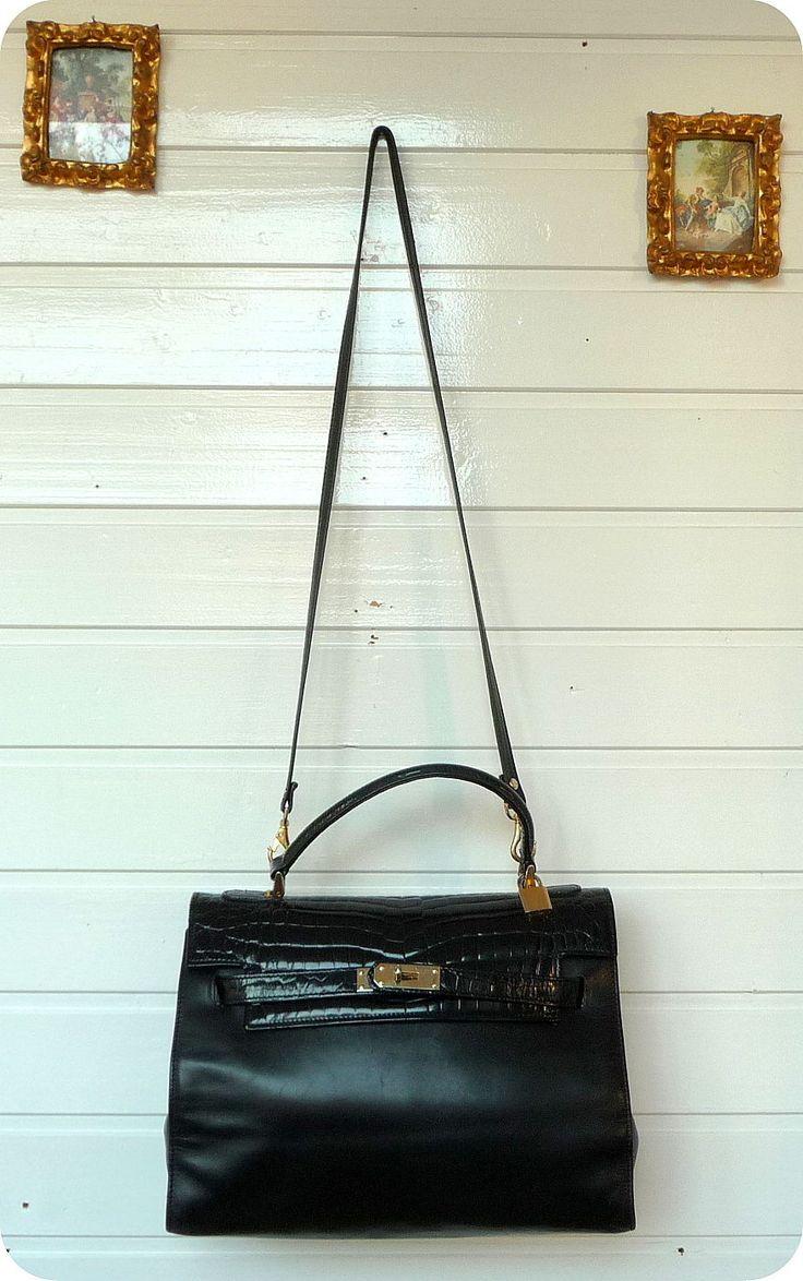 Vintage STAR INTERNATIONAL Leder Schultertasche Kroko Tasche Bag Handtasche 70er | eBay