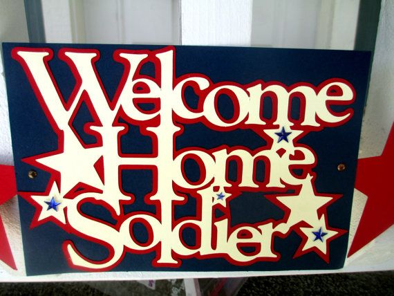 Welcome Home Soldier Military Banner                                                                                                                                                                                 More