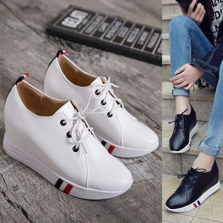 Buy Pastel Pairs Lace Up Hidden Wedge Shoes at YesStyle.com! Quality products at remarkable prices. FREE WORLDWIDE SHIPPING on orders over US$ 35.