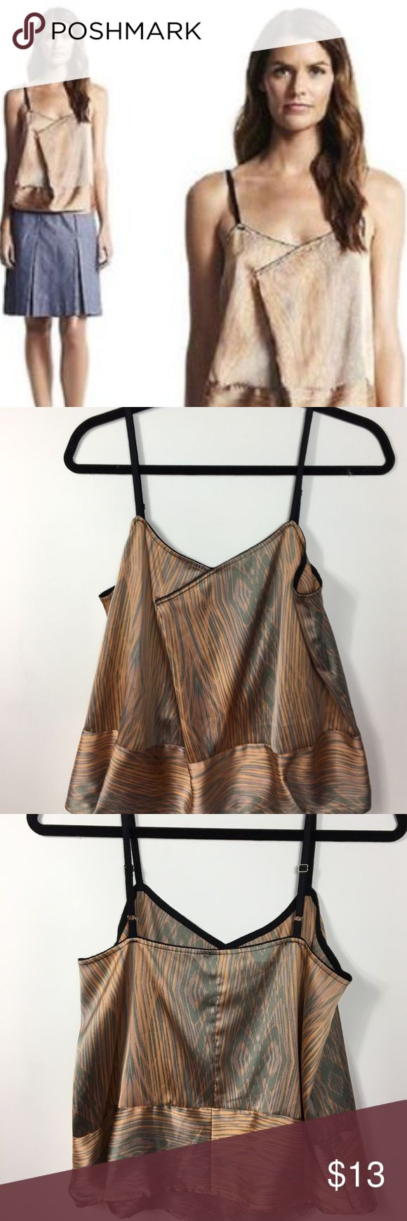 "Derek Lam for Design Nation>wood grain tank EUC From the Derek Lam for Design Nation collection, this is the contrast ""wood grain"" darted tank top. Adjustable straps. Burnt orange, sage and dark lilac colors. Only worn a handful of times, EUC. TTS. Derek Lam Tops Tank Tops"
