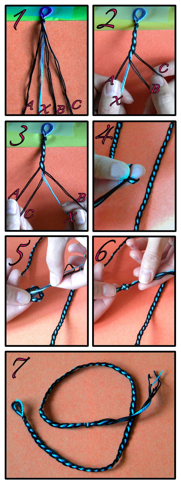 Pretty friendship bracelet directions