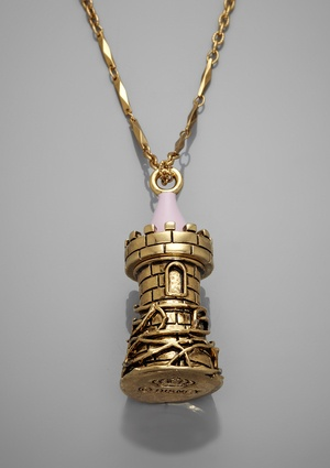 DISNEY COUTURE Charm Necklace. Wellllll I am Rapunzel and this looks like her tower! @Daniela Maselli :)