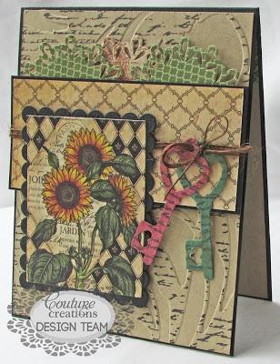 Couture Creations: Joyeux Anniversaire by Gloria Stengel | Couture Creations Fantasia Doily Dies, Embossing Folders, Nesting Dies Decorative Dies