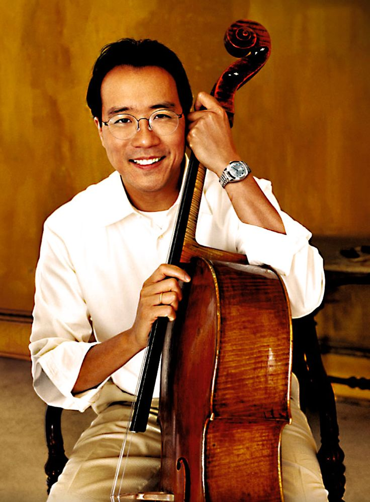 Yo Yo Ma - One of my favorite musicians. Someday I will learn the cello and aspire to play well like him (though I'll certainly fall short)!