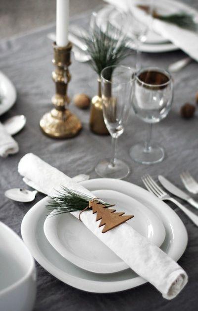 Décorer sa table pour Noël: idées et modèles. Benita loca