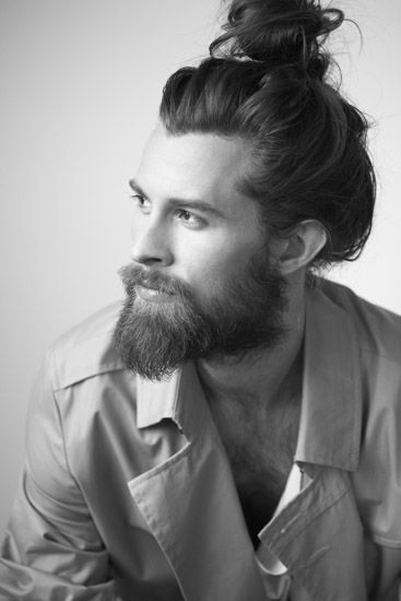I will never be able to pull off a messy bun like this.   why.  because I do not and cannot grow a beard.
