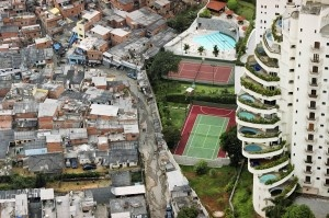 Sao Paulo, Brazil, 2005. The Paraisopolis favela borders the affluent district of Morumbi. Photo by Tuca Vieira.