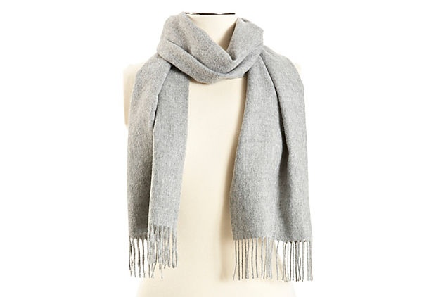 A solid alpaca scarf will never go out of style.