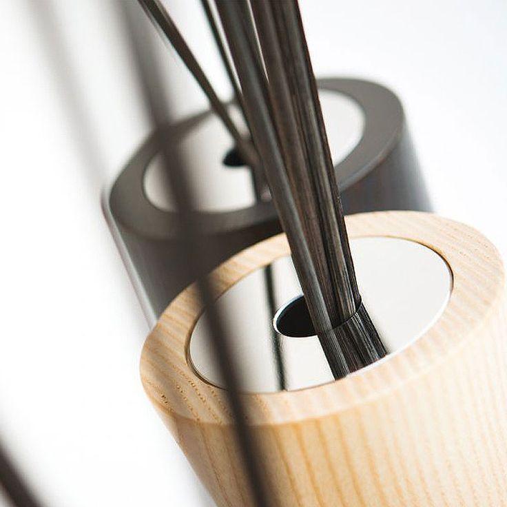 Millefiori Air Design – aroma difuzér Wood Ellisse, přírodní